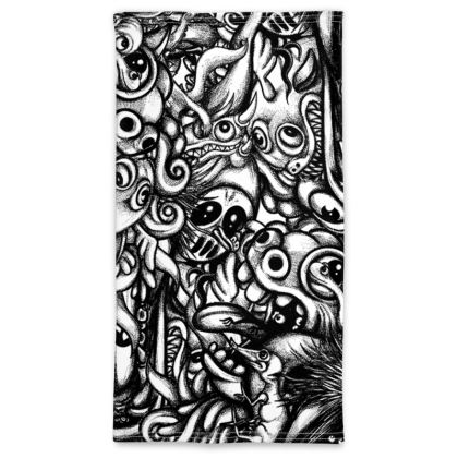 doodles bw Neck Tube Scarf