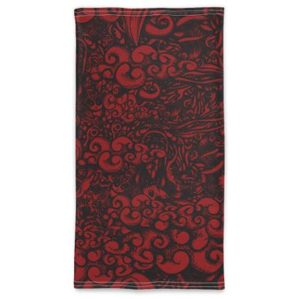 doodles dark Neck Tube Scarf