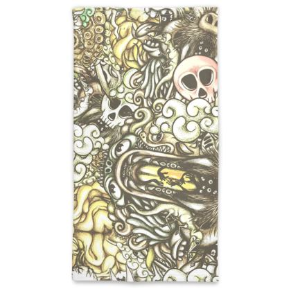 doodles flat Neck Tube Scarf