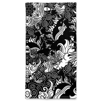 floral bw Neck Tube Scarf
