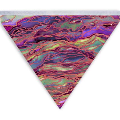 Marble Idea! Radiant Rainbow Colourful Abstract Bunting