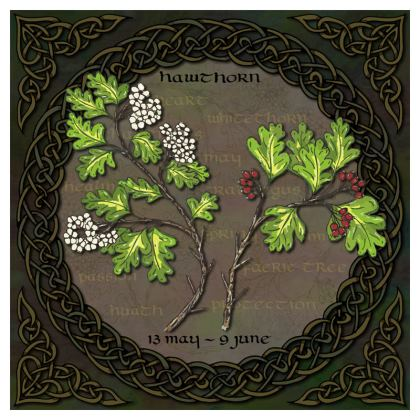 Tree Calendar Hawthorn Coasters