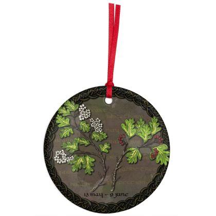 Tree Calendar Hawthorn Hanging Ornament