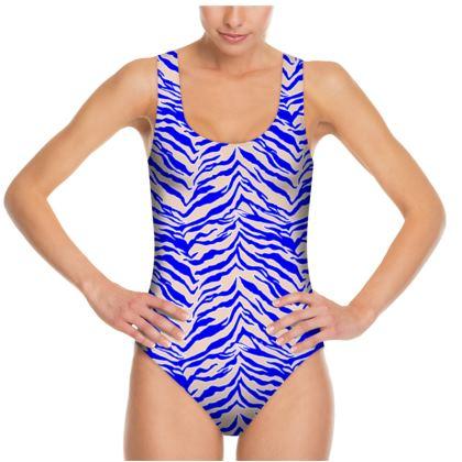 Tiger Print - Cobalt Blue Swimsuit