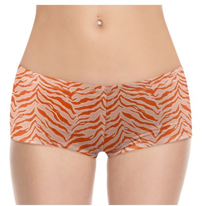 Tiger Print - Orange Shorts