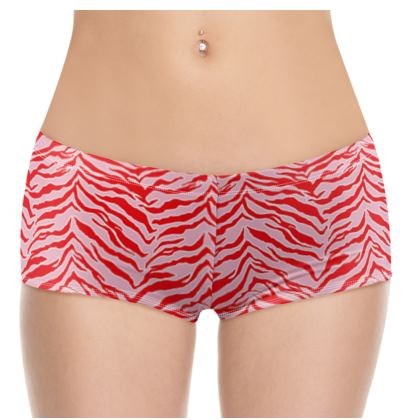 Tiger Print - Red and Pink Shorts
