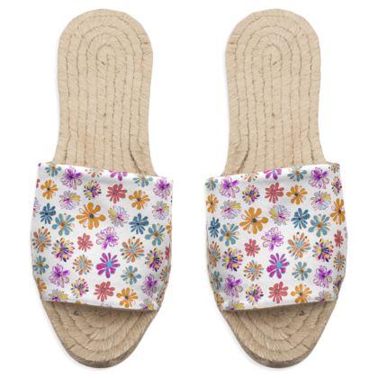 Rainbow Daisies Collection Sandal Espadrilles