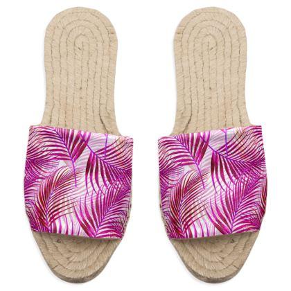 Tropical Garden in Magenta Collection Sandal Espadrilles