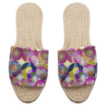 Moon Collection on cream Sandal Espadrilles