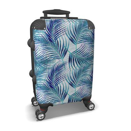 Tropical Garden in Blue Collection Suitcase