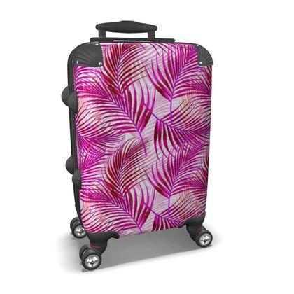 Tropical Garden in Magenta Collection Suitcase
