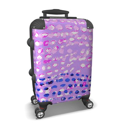Textural Collection multicolored in mauve and blue Suitcase