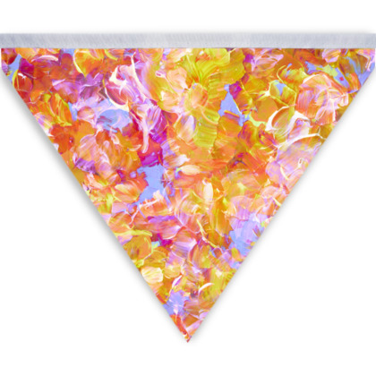 Bloom On, Yellow Floral Abstract Colourful Bunting