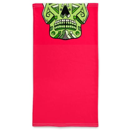 Green Candy Skull Neck Tube Scarf