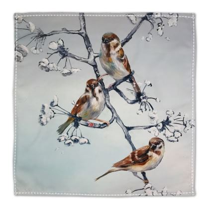 Birds + Blossom Table Napkin
