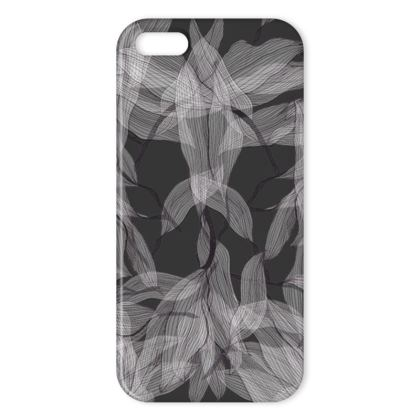Floating leaves grey iPhone cover