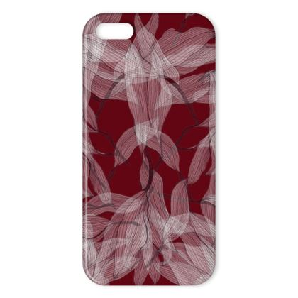 Floating leaves red iPhone cover