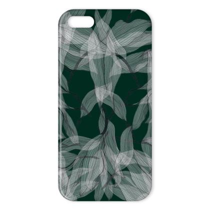 Floating leaves green iPhone cover