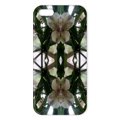 Alstroemeria stem reflection iphone cover