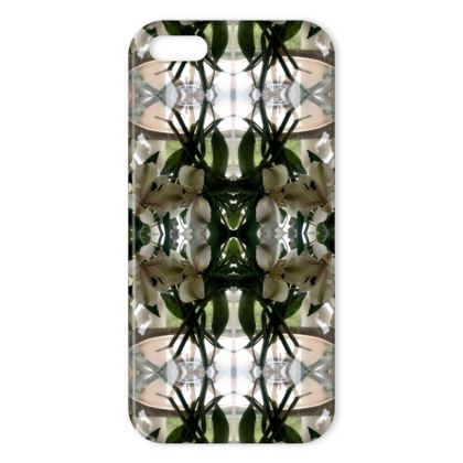 Alstroemeria bowl reflection iphone cover
