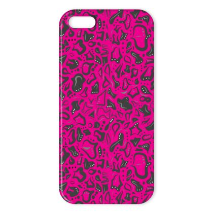 Dots and tots pink iPhone cover