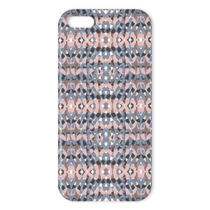 Tile mosaic pink iPhone cover
