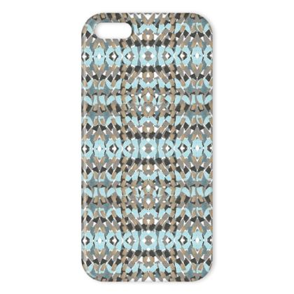 Tile mosaic green iPhone cover