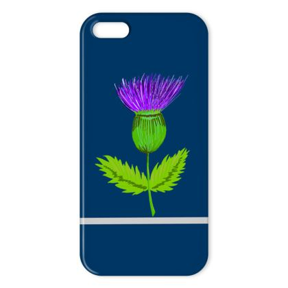 Single thistle iPhone cover