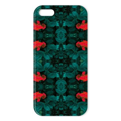 Green tulip iPhone cover