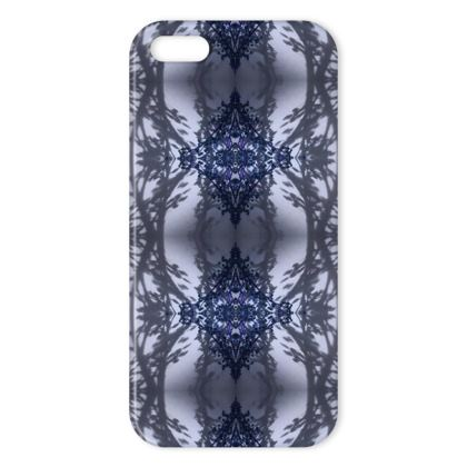 Floral reflection blue iPhone cover