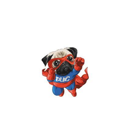 super pug face masks pack of four