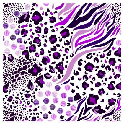 purple lilac animal print espadrilles
