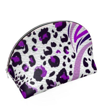 purple lilac animal print coin purse