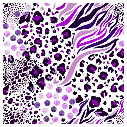 purple lilac animal print leather clutch bag