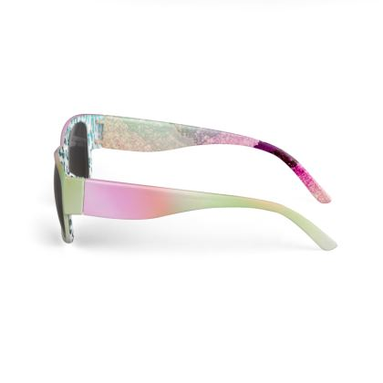 THE FANCY GLASSES - FITS TO ALL GLITTER PINK PASTEL FACE MASKS