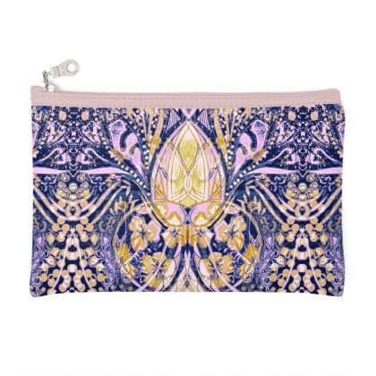 Zip Top Pouch Bag/Purse - Pink Print