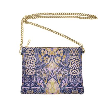 Crossbody Bag with chain - Pink Print