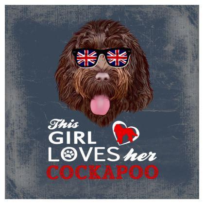 Retro design Cockapoo cushion
