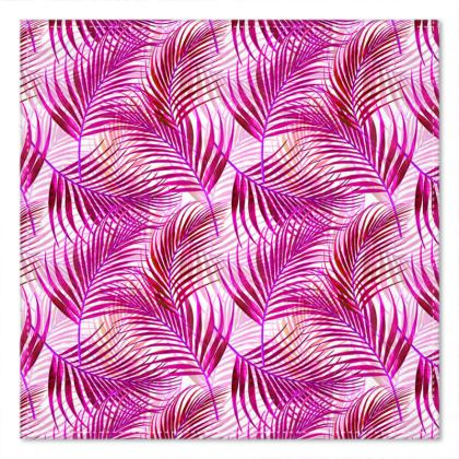 Tropical Garden in Magenta Collection Pocket Square