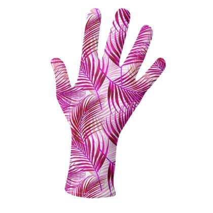 Tropical Garden in Magenta Collection Gloves