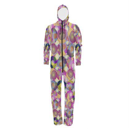 Moon Collection on cream Hazmat Suit