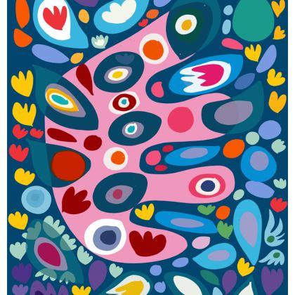 Joyful Abstract Floral Chair