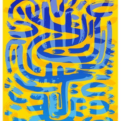 African Pop Art Graffiti Chair by Signorino