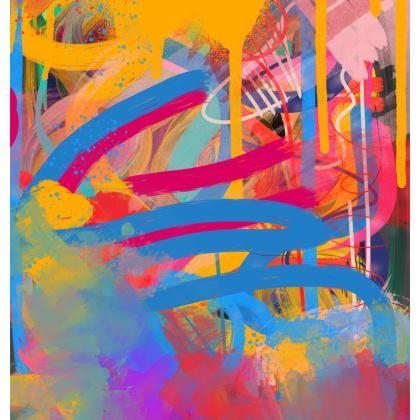 Street Rainbow Sprayed Paint Art Chair