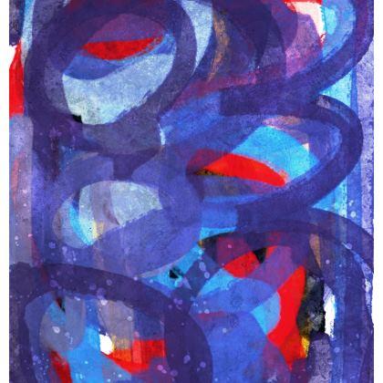 Abstract Blue Zen Circles Chair by Signorino