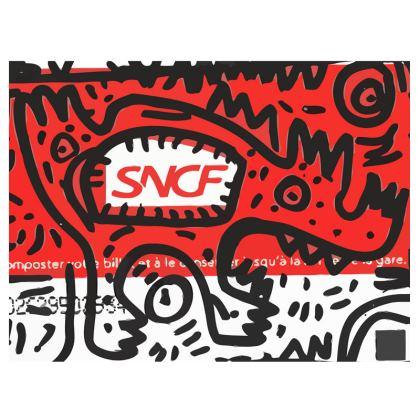 Graffiti French Train Ticket Chair by Signorino