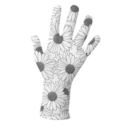 Daisy Blocks in Black and White - Gloves