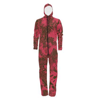 Red waves Hazmat Suit