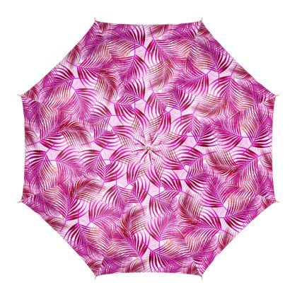 Tropical Garden Collection in Magenta Umbrella