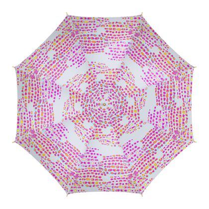 Textural Collection in grey and magenta Umbrella